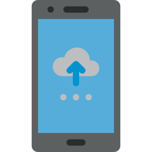 cloud, data, mobile, network, phone, smartphone icon