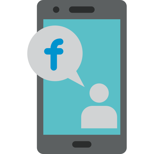 Mobile, phone, facebook, interface, communication, device icon