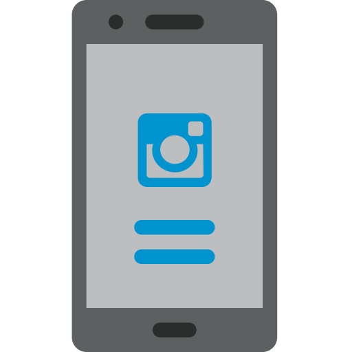communication, instagram, interaction, login, mobile, phone icon