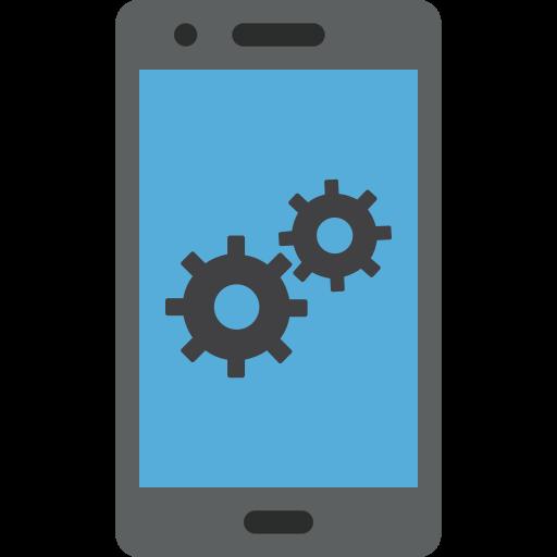communication, mobile, phone, setting, settings, smartphone icon