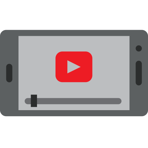 Mobile, phone, youtube, communication, screen icon - Free download