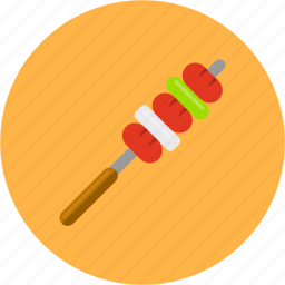 barbecue, camping, cook, grilled, onion, sausage icon