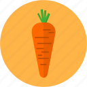 carrot, chef, cook, diet, greens, health, vegetable icon