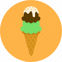 bakery, birthday, chocolate, cone, dessert, icecream, sweet icon