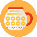 coffee, cup, kitchen, mug, pattern, soup, tea icon