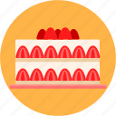 birthday, cake, christmas, dessert, gateau, party, strawberry icon