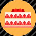 birthday, cake, christmas, dessert, gateau, party, strawberry