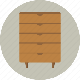 bureau, chest, drawer, dresser, furniture icon