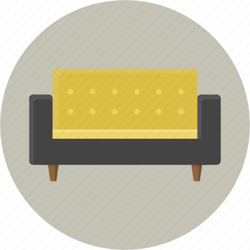break, couch, furniture, living room, rest, settee, sofa icon