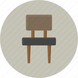 chair, desk, furniture, seat, sit, stool icon