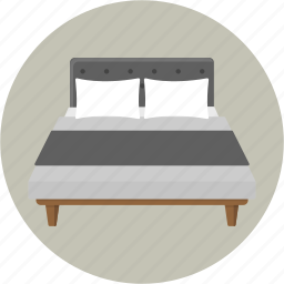 bed, bedding, bedroom, furniture, hotel, pillow, sleep icon