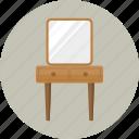 cosmetics, dressing table, furniture, makeup, mirror, vanity