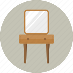 cosmetics, dressing table, furniture, makeup, mirror, vanity icon