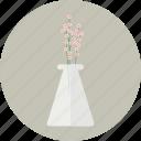 babies' breath, blossom, flower, glass, spring, vase