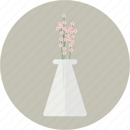babies' breath, blossom, flower, glass, spring, vase icon