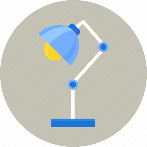 desk, illumination, lamp, light, lighting, study icon