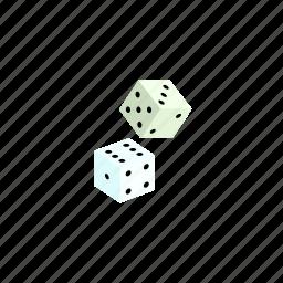 casino, dice, isometric, play icon