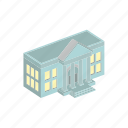 bank, building, finance, isometric icon
