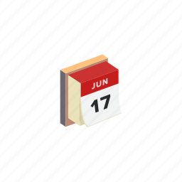 calendar, isometric icon