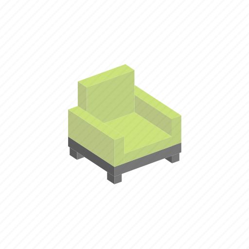 chair, furniture, interior, isometric icon