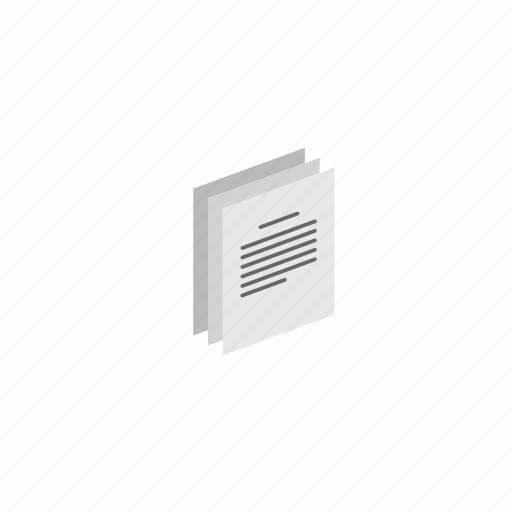 docs, documents, isometric icon