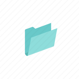 folder, isometric, open icon