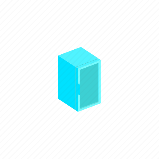 fridge, interior, isometric, refrigerator icon