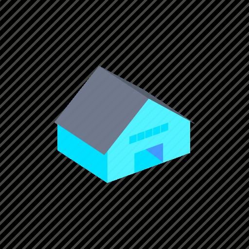 building, hangar, isometric icon