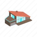 building, house, isometric icon