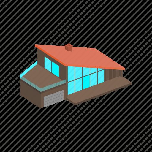 building, house, isometric icon