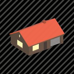 building, floors, house, isometric icon