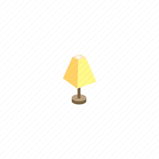 device, furniture, isometric, lamp, light icon