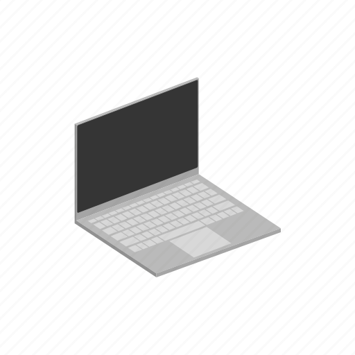 computer, device, isometric, laptop, notebook pc, pc icon