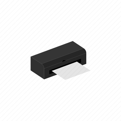 device, isometric, print, printer icon