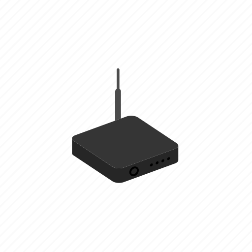 device, internet, isometric, network, router, wifi icon