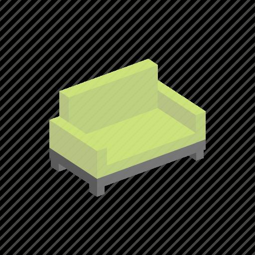 furniture, interior, isometric, sofa icon