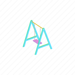 isometric, playground, swing icon