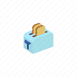 device, isometric, kitchen, toster icon