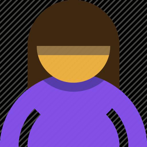 account, person, profile, user, woman icon