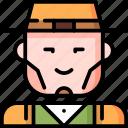 avatar, character, classy, elegant man, hat, male, man icon