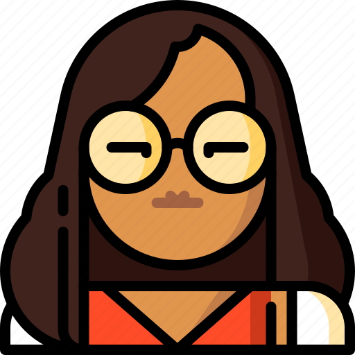 avatar, character, classy, fashion, glasses, multicultural, people icon
