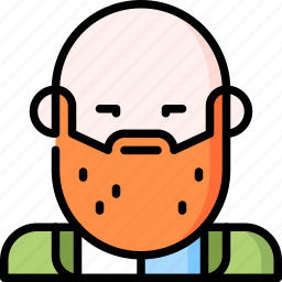 avatar, beard, character, classy, man, multicultural, people icon