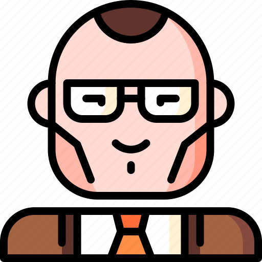 avatar, character, classy, glasses, multicultural, people, smart icon