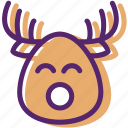 animal, christmas, present, reindeer, santa, sled, xmas icon