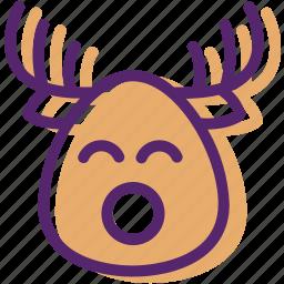 animal, christmas, present, reindeer, santa, sled, xmas icon