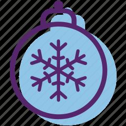 ball, decor, ornament, snowball, snowflake, tree ornament, xmas icon