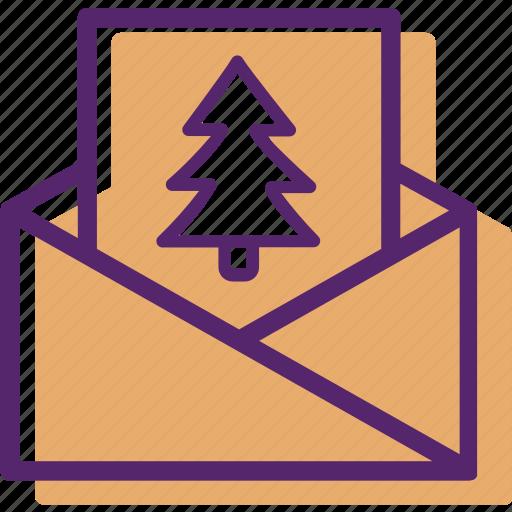 card, christmas, christmas car, letter, tree, xmas icon