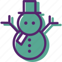 christmas, cold, play, snow, snowman, winter, xmas