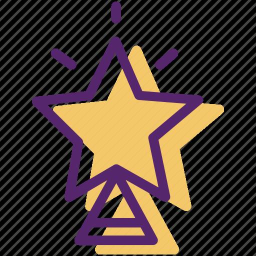 christmas, decor, ornament, star, tree, xmas tree icon