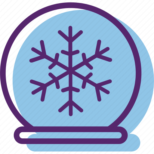 christmas, snowbal, snowflake, snowglobe, xmas icon